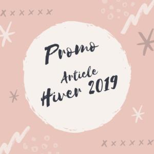 Promo Article Hiver 2019